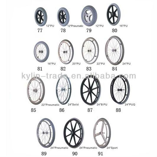 24*1-3/8 Big Rear Wheel For Wheelchair,Manual Wheelchair