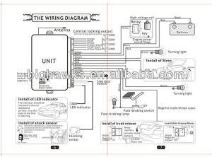 Car Alarm System One Way Ca7028129 Bighawks Remote