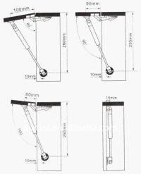 Gas Spring for kitchen cabinet , furniture hardware hinge