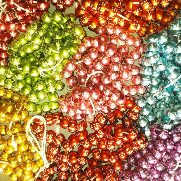 Poly Bague indicateurs couleurs assorties Pack de 3 Regular