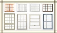 modern design wooden window, vertical sliding window ...