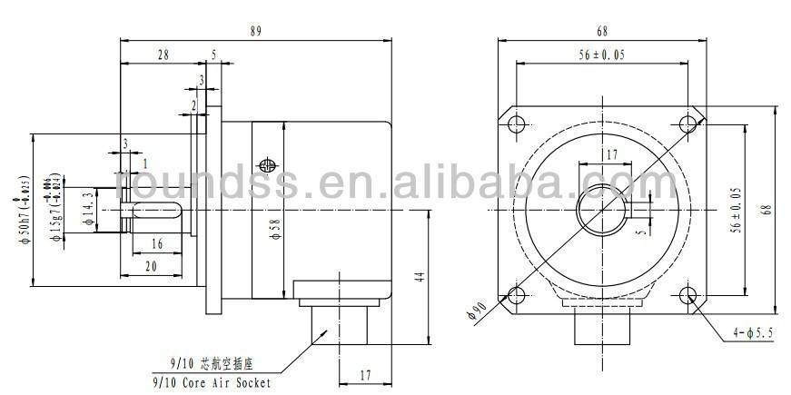 Rotary quadrature encoder of 8384 pulses per round for NC