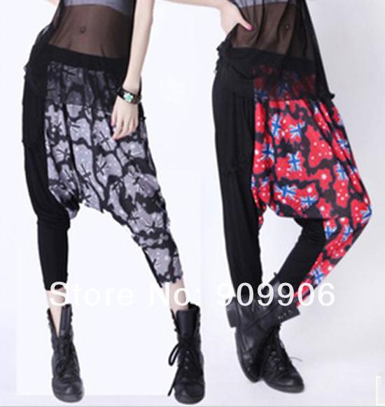 ̀ •́ Moda Pantalones harem! nueva primavera más tamaño baggy ... be876fff492