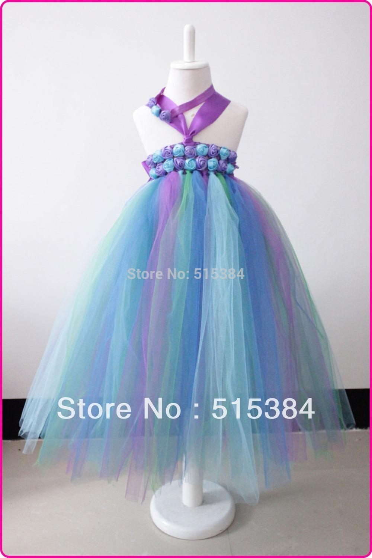 New purple white glitter girls tulle dress Charming beautiful baby ...