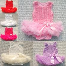Baby Chiffon Princess Dress Toddler Girl Sleeveless Romper Cute Rose Bubble Tutu Dress Baby New Fashion