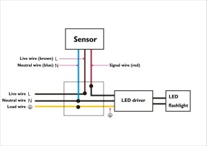 30 watt led motion detector light pic or wires