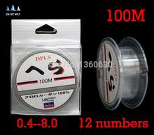 high quality Available 1pcs 100M Fluorocarbon Fishing Line 0 1 0 32mm 2 6 18kg Carbon
