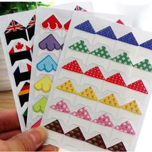 New Arrival Paper Photo Corner Stickers For DIY Photo Albums Scrapbook Decoration 24pcs sheet 30 sheets