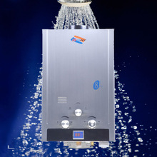 RSQ 8N Natural Gas 8L Household Tankless Boiler Instant 2GPM Hot Water Heater Stainless Steel