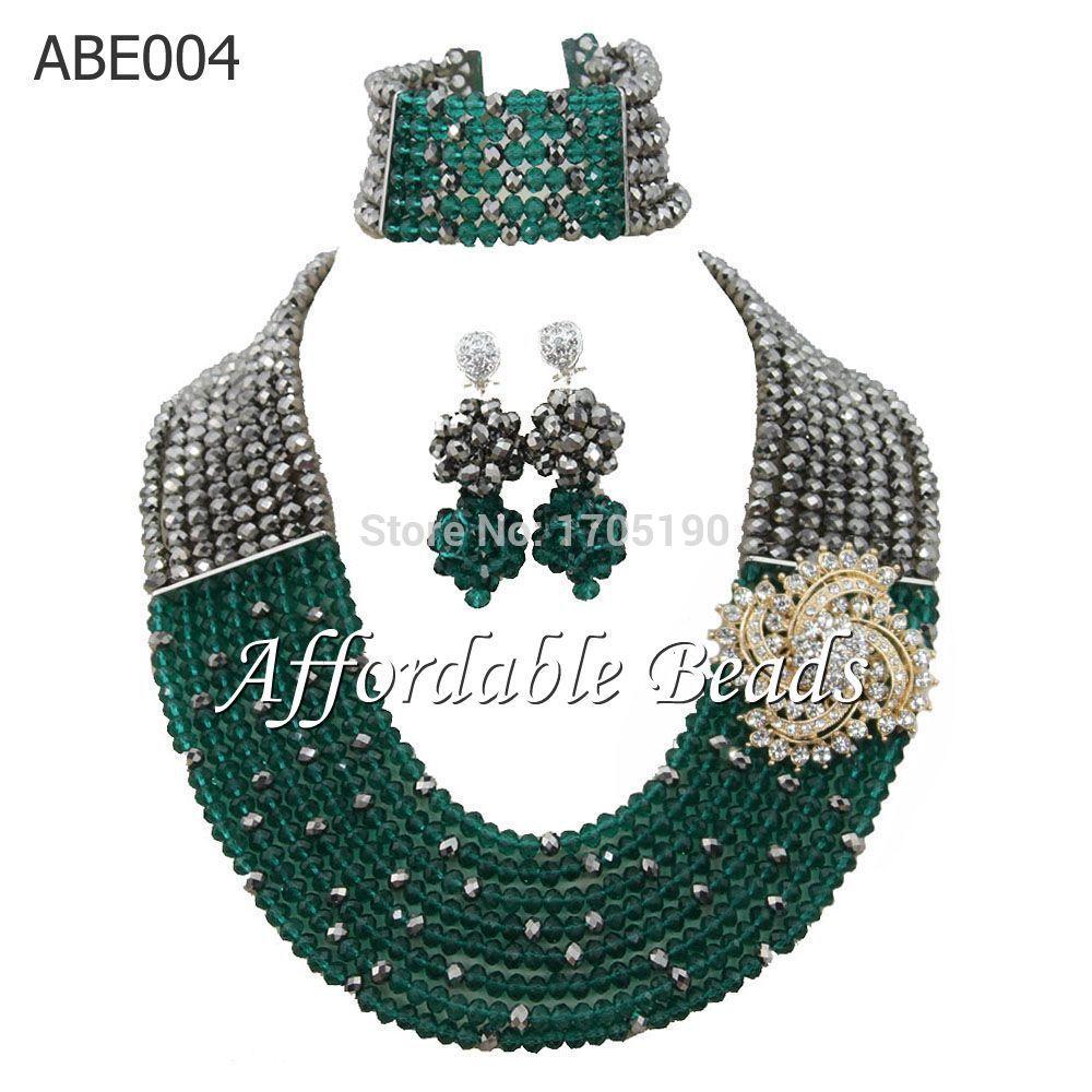 √Purple Women Costume Jewelry Set Shining Wedding African Beads ...