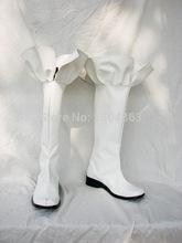 Gundam Seed Destiny Stella White Corlor For Halloween Cosplay Boots Custom Made Free Shipping