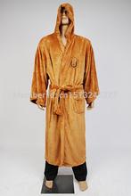 Star Wars Terry Jedi Bathrobe for Men Robe Costume Brown Robe Cosplay Costume Plus Size New