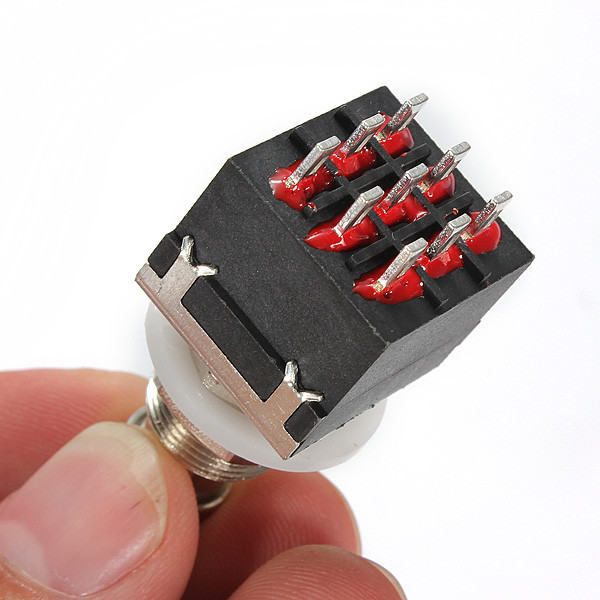 3pdt 9pin Stompbox Guitar Effects Pedal Foot Switches