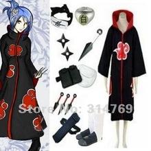 Free Shipping Apparel Naruto Cosplay Costume Naruto Akatsuki Konan Cosplay Costume Set Halloween Costumes Party Cosplay