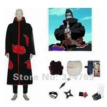 Free Shipping Apparel Naruto Cosplay Costume Naruto Akatsuki Kisame Hoshigaki Cosplay Costume Set Halloween Party Cosplay