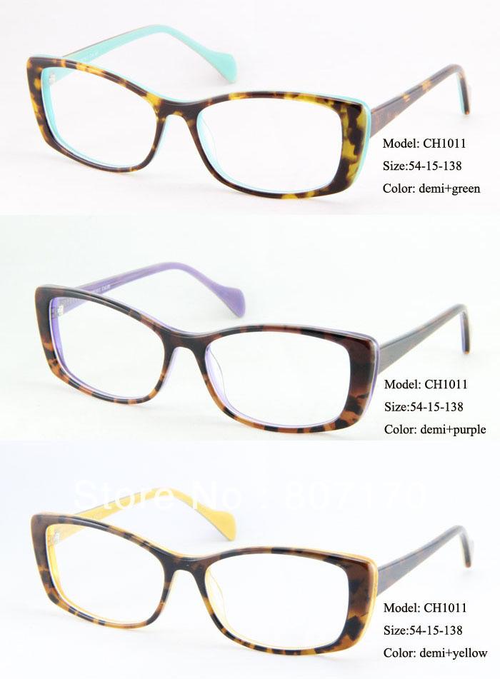 das Mulheres na moda Vingtage Cat Eye Óculos Armações de Acetato armações  de óculos de grife Lotes Por Atacado 3e7c0b6df7