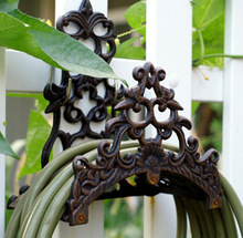 Vintage Garden Wall Mounted Hose Holder Cast Iron Hose Hanger Rustic Home Decor Metal Craft Free