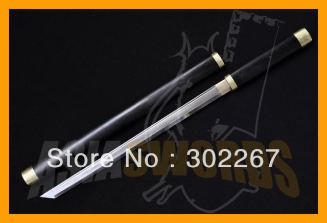Asiaswords 100% forjado a mano 1095 negro madera samurai japonés
