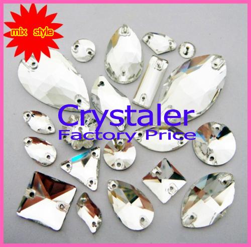 FREE SHIPPING 7x12mm Crystal AB pear shape flatback sew on rhinestones 9324d55ae7df