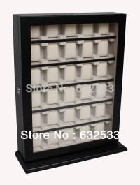 Antique-Style-Wooden-30-Watch-Display-Cabinet-Storage-Box ...