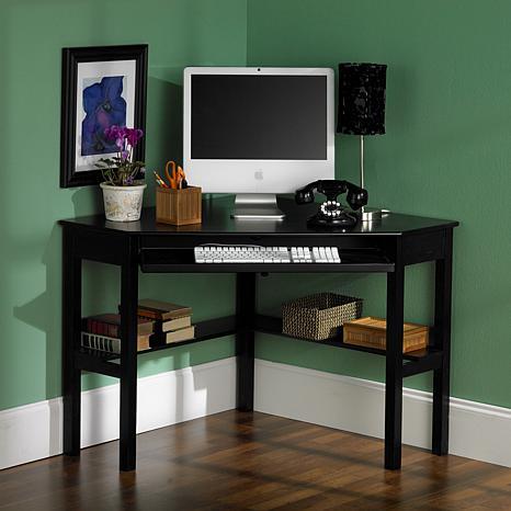 Corner Computer Desk  Black Finish  6221914  HSN