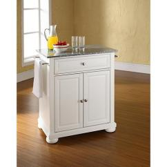Crosley Kitchen Island Red Trash Can Alexandria Solid Granite Top Portable White 7743743 Hsn