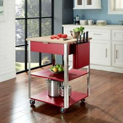 Kitchen Prep Cart White Drop Leaf Table Crosley Culinary Red 7743620 Hsn