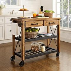 Crosley Kitchen Cart Wire Shelves Roots Rack Industrial 7743619 Hsn