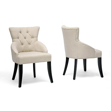 beige dining chairs shower at walmart halifax linen chair set of 2 6594657 hsn