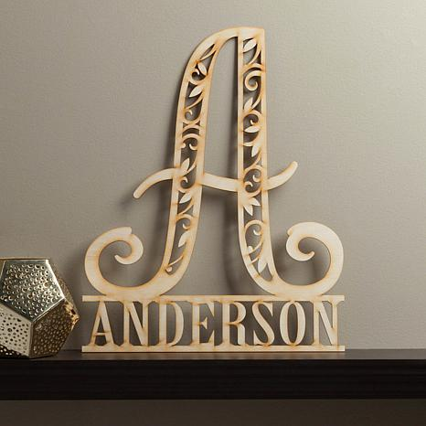 personalized family name wood
