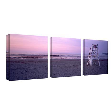 canvas beach chair nomadic fishing preston art set of 3 panels 7263144 hsn