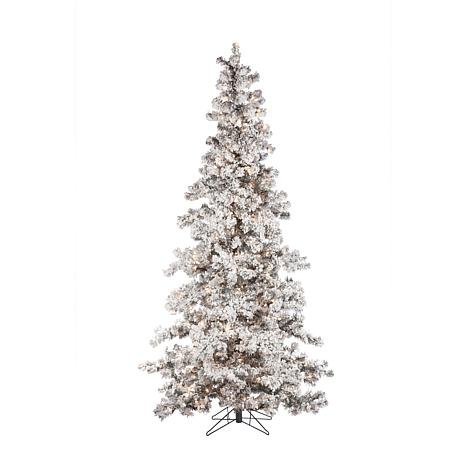Sterling 7 12 Heavy Flocked Layered Spruce Lighted