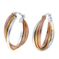 Technibond Tricolor Hoop Earrings - 8273818 | HSN