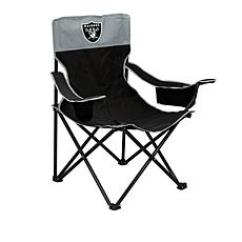 Oakland Raiders Chair Dining Chairs Bali Tables Hsn Officially Licensed Nfl Big Boy Extreme Folding