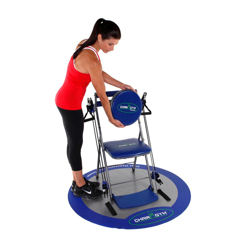 chair gym exercise system with twister seat patton swivel quote and workout dvds 7395682