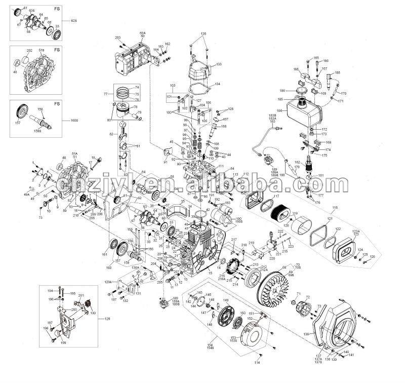 10HP, air-cooled kama diesel engine ,small diesel engine