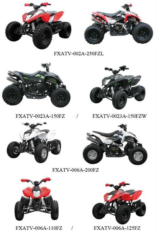 150cc GY6 quad bike ATV cf moto shop for sale in China