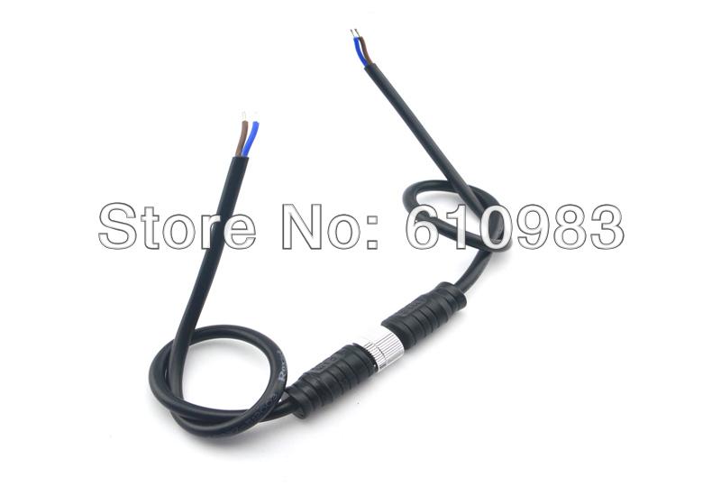 (5sets\lot) LED strip 2 Pin M12 Metal Nut waterproof