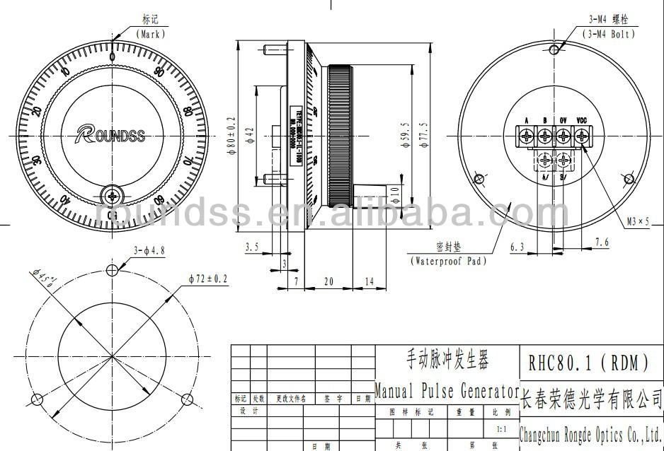 CNC Lathe Rotary Encoder MPG Handwheel Unit Hand