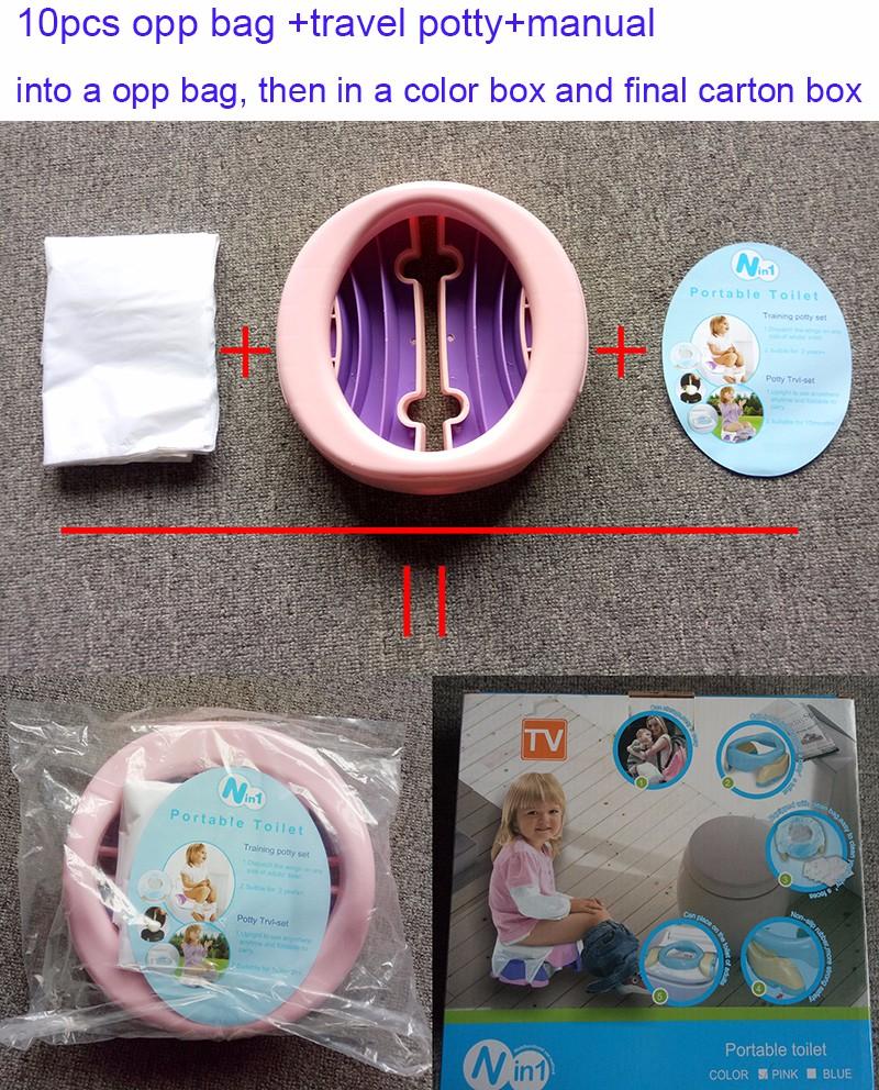 De beb plegable bao silla 2 en 1 asiento cmodo inodoro