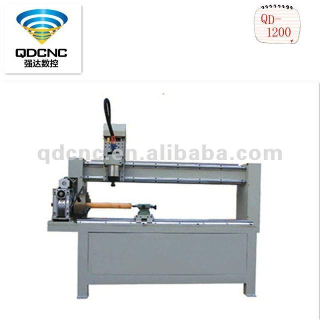 Qd-1200 hobby legno cnc macchina per incisione/legno tornio cnc con