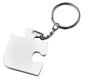 Sublimation Plastic Jigsaw Puzzle Angle Shape Keyring