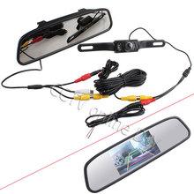 Car Rear View Kit 4 3 Screen TFT LCD Car Rear View Rearview DVD Mirror Monitor
