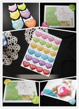 Wholesale Price Wedding Photo Album Love Photo Corner Stickers Scrapbook Products 24pcs sheet 30sheets Lot