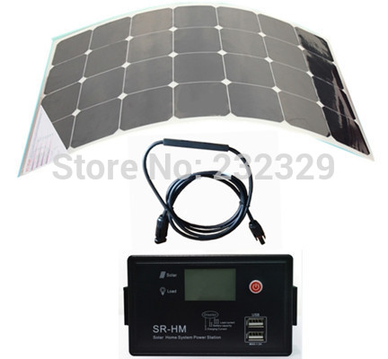 Promotion sunpower flexible solar panel 80W 12V 24V Aoto solar controller and LED Driver