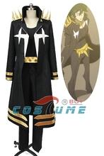 KILL la KILL Uzu Sanageyama Uniform Black Outfit Cosplay Costume