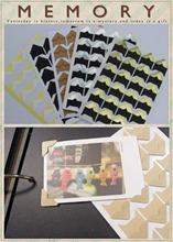 DIY PHOTO ALBUM SCRAPBOOK Black White Kraft Golden Silver Photo Corner Sticker Sheets 24pcs sheet 6sheets