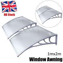 UK ZYP 2M 1mx2m DIY Outdoor Front Door sunshade Patio polycarbonate Window Awning gazebo canopy