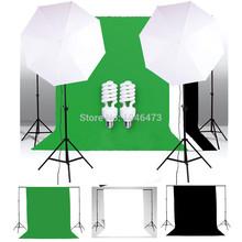 UK SYTZ 03 Photo Studio light Black White Green Screen Backdrop Support Set Umbrella Lighting Kit
