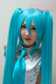 120cm Ponytail 30cm wig DarkBlue VOCALOID Hatsune Miku Party Customs Cosplay Hatsune Miku Long Blue Show